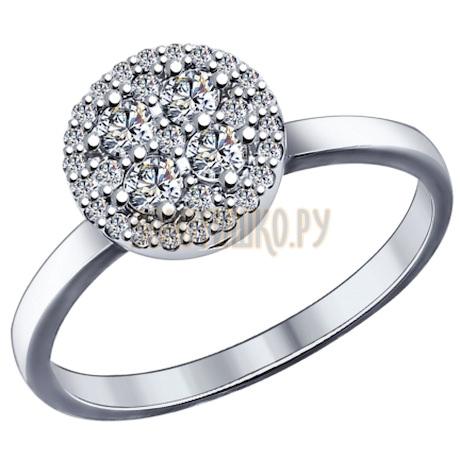 Кольцо из серебра с фианитами 94011972