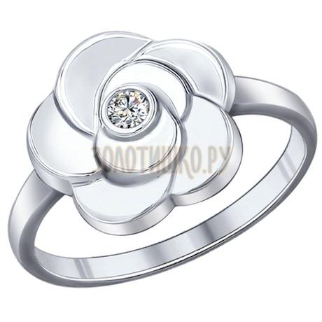 Кольцо из серебра с фианитом 94011983