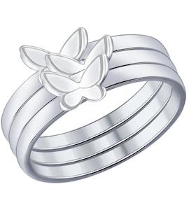 Кольцо наборное из серебра 94012014