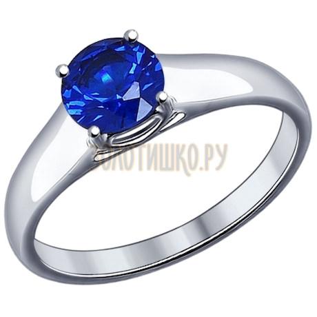 Кольцо из серебра с синим фианитом 94012018