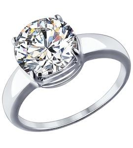 Кольцо из серебра с фианитом 94012073