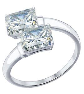 Кольцо из серебра с фианитами 94012075