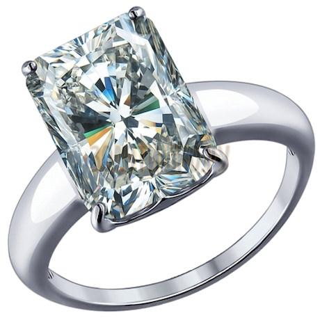 Кольцо из серебра с фианитом 94012078