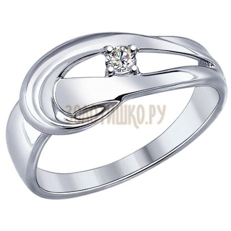 Кольцо из серебра с фианитом 94012102