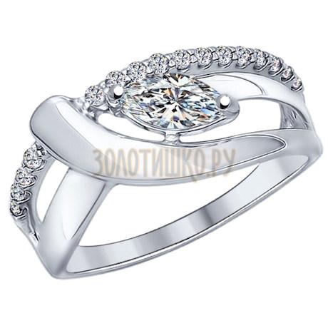 Кольцо из серебра с фианитами 94012106