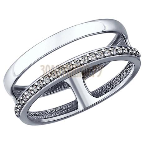 Кольцо из серебра с фианитами 94012151