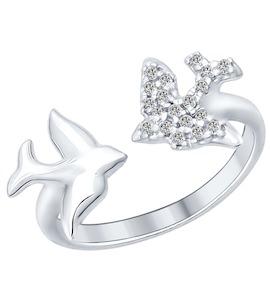 Кольцо из серебра с фианитами 94012165
