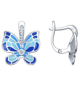 Яркие серьги с бабочками 94021727