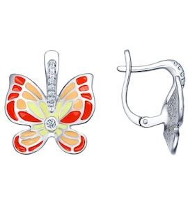 Серьги с яркими бабочками 94021729