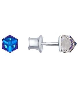 Серьги-пусеты из серебра с кристаллами swarovski 94021803