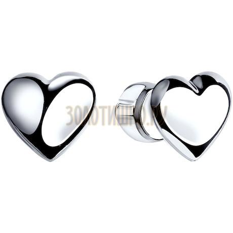 Серьги-пусеты из серебра 94022254