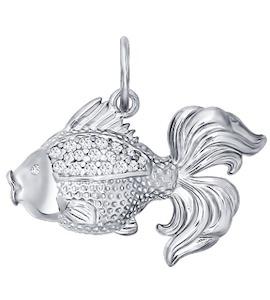 Серебряная подвеска в форме рыбки 94030510