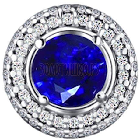 Подвеска из серебра с синим фианитом 94030734