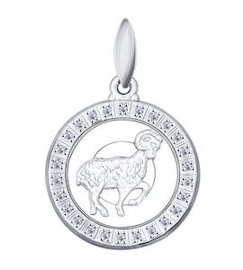 Подвеска знак зодиака из серебра с фианитами 94031383