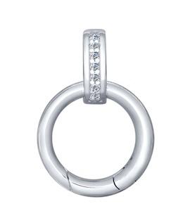 Карабин из серебра с фианитами 94031593