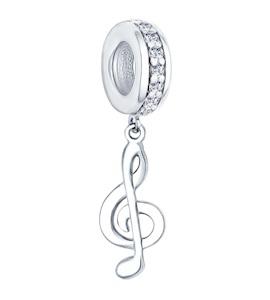 Подвеска-шарм из серебра с фианитами 94031621