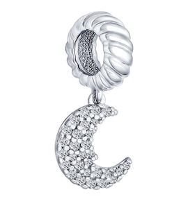 Подвеска-шарм из серебра с фианитами 94031628