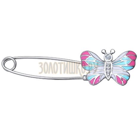 Брошь-булавка с бабочкой 94040073