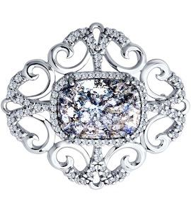 Брошь из серебра с кристаллами Swarovski 94040101