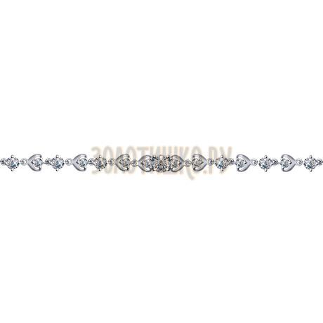 Браслет из серебра с фианитами 94050356