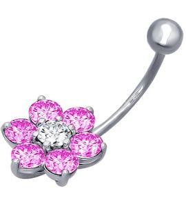 Пирсинг в виде цветка для пупка 94060043