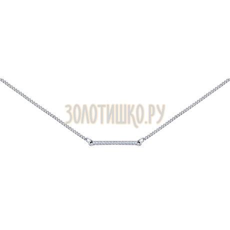 Колье из серебра с фианитами 94070052