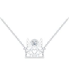 Колье «Ангел» из серебра с фианитом 94070090