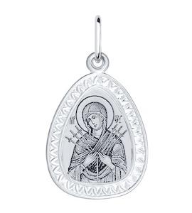 Иконка из серебра с лазерной обработкой 94100151