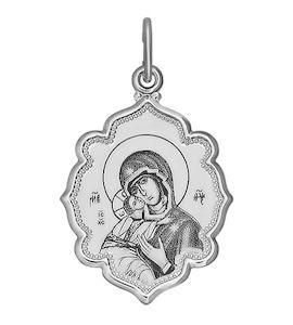 Иконка из серебра с лазерной обработкой 94100219