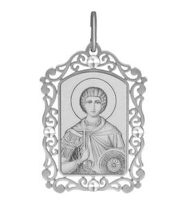 Иконка из серебра с алмазной гранью и лазерной обработкой 94100227
