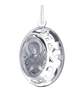 Иконка из серебра с лазерной обработкой 94100238