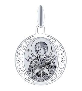 Иконка из серебра с лазерной обработкой 94100245