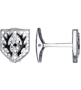 Запонки из серебра с эмалью 94160037