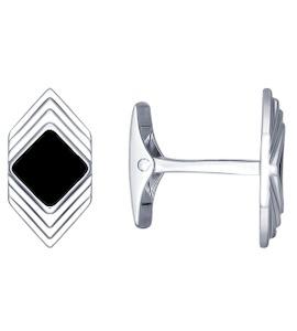 Запонки из серебра с эмалью 94160051