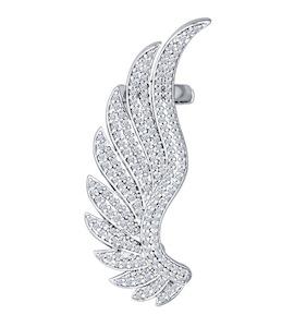 Кафф из серебра с фианитами 94170021