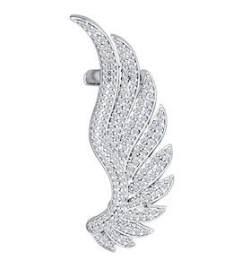 Кафф из серебра с фианитами 94170022