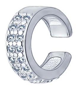 Кафф из серебра с фианитами 94170029