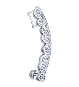 Кафф из серебра с фианитами 94170042