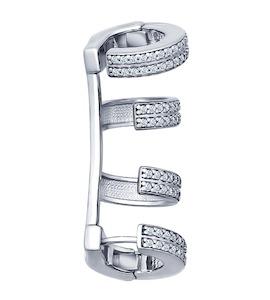 Кафф из серебра с фианитами 94170046