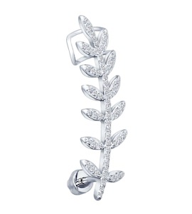 Кафф из серебра с фианитами 94170050