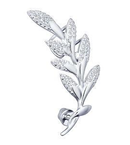 Кафф из серебра с фианитами 94170052