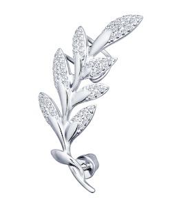 Кафф из серебра с фианитами 94170053