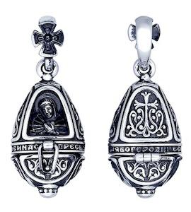 Иконка из чернёного серебра 95030151
