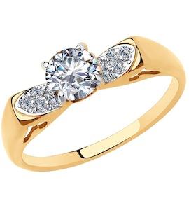 Кольцо из золота с фианитами 51-110-00144-1