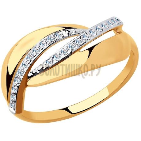 Кольцо из золота с фианитами 51-110-00365-1