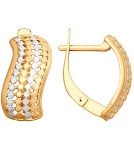 Серьги из золота с алмазной гранью 51-120-00083-1