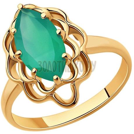 Кольцо из золота с агатом 51-310-00760-3