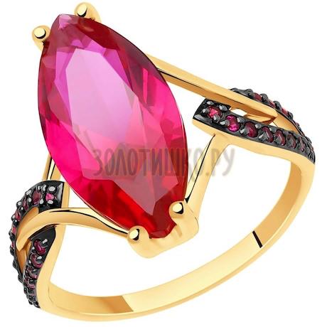 Кольцо из золота с корундами 51-310-00829-1
