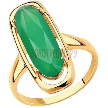 Кольцо из золота с агатом 51-310-00946-1