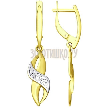 Серьги из желтого золота 53-121-00076-1